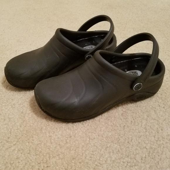 6f8e246e5837a Anywear Shoes | Black Nursing Clogs Sz 6 | Poshmark